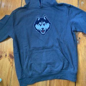 Tops - Grey UCONN hoodie